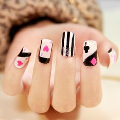 Charlies Nail Art Card Symbols Stickers Available In 2 Designs 1 00 Http Www Charliesnailart Co Uk Availab