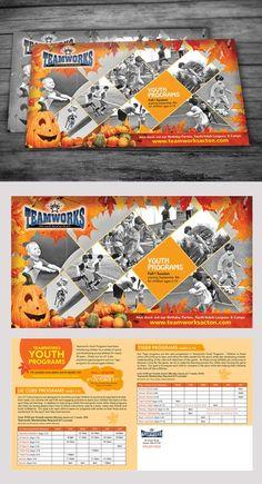 Sports-based youth program postcard design by KushWORLD