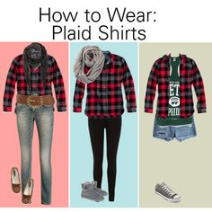 """How to Wear a Plaid Shirt"" by melonhead on Polyvore"