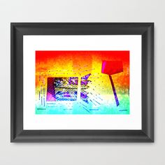 object Color candy Framed Art Print by seb mcnulty - $32.00