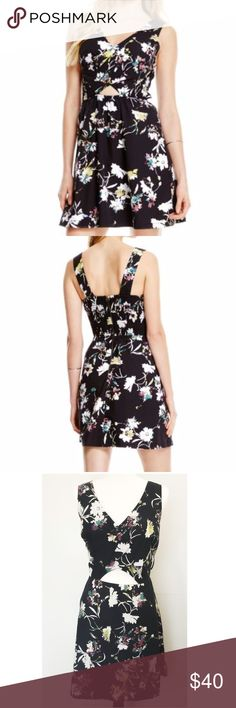 Jessica Simpson Black Floral Cutout A-line Dress Jessica Simpson Black Floral Cutout A-line Dress  This dress speaks for it self. IT'S GORGEOUS.  Pre-owned but looks brand new. Size Large  * spring * summer * easter * floral * chic * girly * flirty * Jessica Simpson Dresses