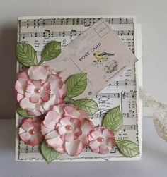 another box car from Fab Art DIY using up old DSP papers.  (Pin#1: Music... Pin+: Flowers: SU-3D/Dies...).