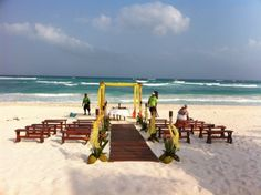 Another nice beach wedding at Cabanas Tulum
