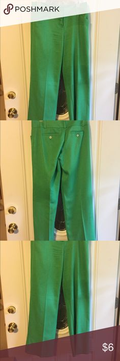 Dress pants by The Limited size 4 Great green pants textured polyester in very good condition The Limited Pants Trousers