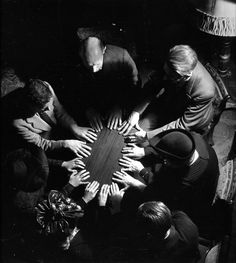 Robert Doisneau - La table qui tourne 1943 vintage psychic table photo the seance roll up circus picture to chill