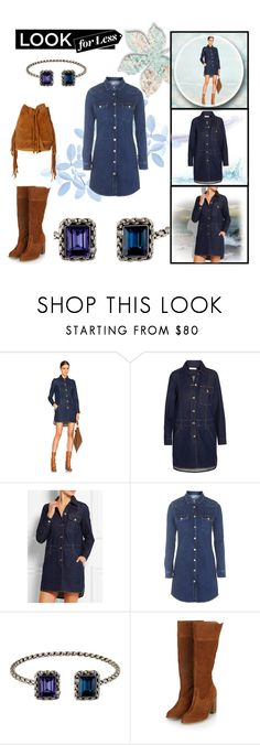 """""""Look for less - Denim dress"""" by citychiclifestyle on Polyvore featuring See by Chloé, Topshop, Swarovski and LookForLess"""