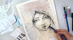 sketch a simple girls face - YouTube