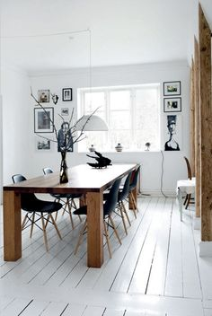 white painted floorboards - very popular - still