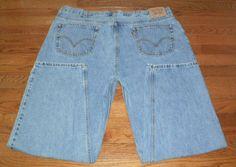 MENS 46x32 LEVI'S 560s red tab BLUE DENIM JEANS pants, NICE!
