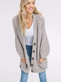 Vicsrack Boyfriend Long Cable Knit Cardigan ( Ship In 24 Hours ) Knit Cardigan Outfit, Cable Knit Cardigan, Cable Knit Sweaters, Boyfriend Cardigan Outfit, Warm Sweaters, Casual Tops For Women, Affordable Clothes, Latest Fashion For Women, Trendy Fashion