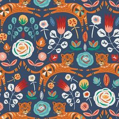Fabric Tigris Indigo from Art Gallery Fabrics, Tallin Collection TAL-65300 - fat 1/4