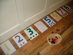 Farbigen Filz Zahlen 1 10 mit passender von KeepingMyKiddoBusy