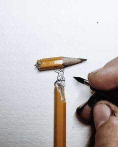 Une sélection des joliesillustrations miniatures deChristian Watson, un artiste, photographe et aventurier américain qui utilise des crayons, des allumett
