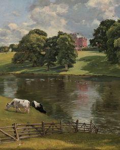 """""""Wivenhoe Park, Essex"""" (detail), 1816, John Constable."""