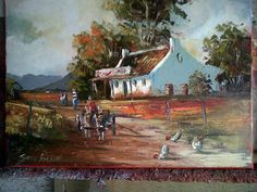 """South African Artist Stan Polson Stan Polson's Art """"One of the most promising, up and coming artists"""" – Alice Pitzer. Oil Paintings, Landscape Paintings, House Paintings, Landscapes, South African Artists, Africa Art, City Art, Pictures To Paint, Types Of Art"""