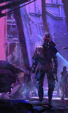 Sci Fi Cyberpunk Neon Robot 4k Ultra HD Desktop Background Wallpaper for 4K UHD TV » WallpapersKit