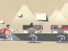 100-frames---interns    interesting experiment on creative mini content, comic strip...