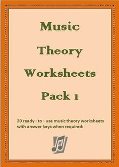 This is a bundle of 20 ready - to- use music theory worksheets with answer keys when required. These worksheets are meant to be used as supplementa...