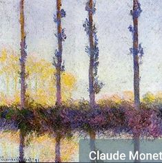 Poplars by Claude Monet in oil on canvas, done in Now in The Metropolitan Museum of Art. Find a fine art print of this Claude Monet painting. Monet Paintings, Impressionist Paintings, Landscape Paintings, Landscape Art, Claude Monet Pinturas, Metropolitan Museum, Pierre Auguste Renoir, Artist Monet, Mary Cassatt