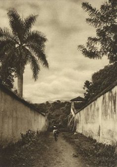 Photogravure from the 1930s. By German photographer Hugo Brehme, taken in Mexico. I have this hanging on my wall.