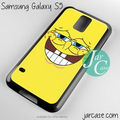 spongebob squarepants smiley face Phone case for samsung galaxy S3/S4/S5
