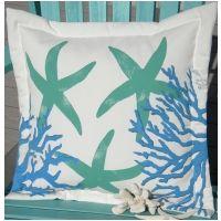 Hand-painted Undersea Indoor & Outdoor Pillow