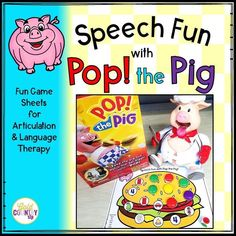 Pop the Pig! Mats for use with the fun kids game. Articulation mats for S, R and L in all positions of words AND many language targets, too.