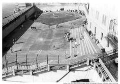Alcatraz Recreation yard with inmates