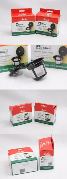 Other Coffee and Tea Makers 159902: Melitta Reusable Coffee E-Filters 5 Coffee Filters Per Box Set Of 2 Boxes -> BUY IT NOW ONLY: $33.95 on eBay!