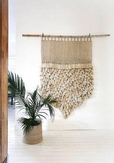 JUMBO Jute Wall Hanging - Natural with Tassels - Wall Hangings - The Dharma Door
