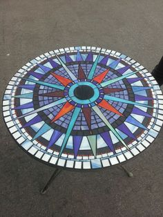 Stained Glass Mosaic Bistro Set. от GlassByRobbyNau на Etsy