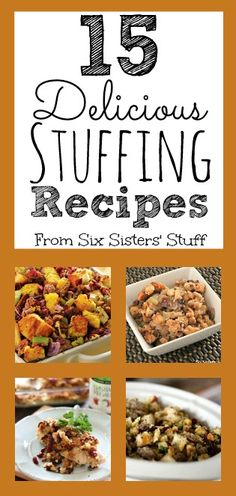 15 Delicious Stuffing Recipes from SixSistersStuff.com
