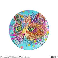 Choose from a variety of Decorative plate designs or create your own! Shop now for custom plates & more! Browse our pre-existing designs or create your own on Zazzle today! Plates For Sale, Plate Design, Cat Gifts, Cats And Kittens, Personalized Gifts, Kitty, Pets, Creative, Artist