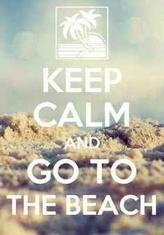 Keep Calm and go to the Beach #Viagem #Viajar #Viajando #mapa #mundo  #travel #trip #holiday #map #world #voyage #vacances #monde #adoro #QueroViajar #AmoViajar #Turista #Tutismo  ✈️ ⛵️⚓️ Summer Time