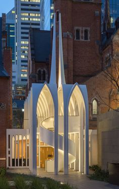 Palassis Architects' cathedral-like Cadogan Song School in Perth Architecture Awards, Church Architecture, Religious Architecture, Architecture Photo, Amazing Architecture, Future Buildings, Unique Buildings, Beautiful Buildings, Facade Design