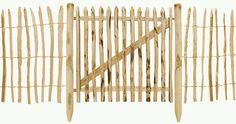 kastanje hout poort paal hekwerk palen kastanjehout