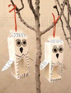 A Funny, Bird Feeders, Snowman, Gift Wrapping, Outdoor Decor, Gifts, Winter, Little Birds, Homemade