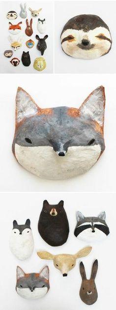 des masques tetes d animaux à faire soi meme, comment faire du papier maché, masque carnaval Halloween enfant