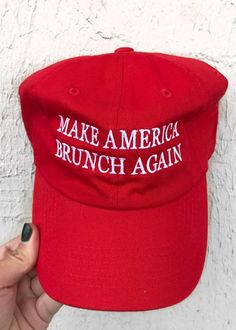 5f97d84ad74 Make America Brunch Again Hat- Red – From Phoenix With Love