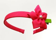 Magenta Flower Headband $7.00
