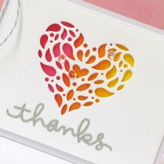 Simon Says Stamp graciously sent me this gorgeous new die during their Die-Cember release and I finally found some time to share a . Some Times, Heart Cards, Card Tutorials, Simon Says Stamp, Stampin Up, Thankful, Valentines, 2017 Ideas, Umbrellas