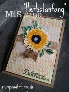 stampinwithfanny stampin up herbstanfang autumn matchthesketch sonnenblume painted harvest sunflower herbstimpressionen #stampinwithfanny