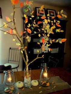 Fall Tree - Coffee Filter leaves- Church Street Designs