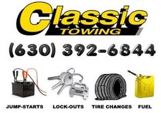 Classic Towing provides vehicle lock-out service, gas delivery, diesel delivery, flat-tire changes, winch-outs, jump starts (boosts), pull starts, and load shifts. Rates vary by service, vehicle type, location, and situation.