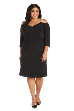R&M Richards Short Plus Size Cocktail Dress 7549W   The Dress Outlet Plus Size Short Dresses, Plus Size Cocktail Dresses, Blush Cocktail Dress, Fashion Mask, Blush And Gold, Nice Legs, Country Outfits, Mother Of The Bride, Sleeve Styles