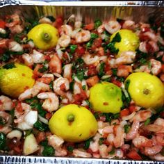 Shrimp ceviche Puerto Rican Cuisine, Puerto Rican Recipes, Shrimp Ceviche, Puerto Ricans, Cobb Salad, Foods, Food Food, Food Items, Puerto Rico