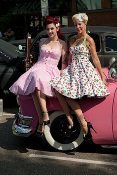 Can we all start wearing dresses like these and driving cars like these?