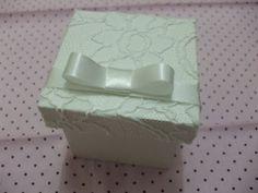 Caixa de Presente ou Lembrança de Casamento com Renda!