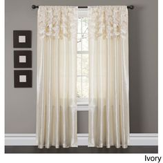 Lush Decor Circle Dream 84 inch Curtain Panels (Set of 2) | Overstock.com Shopping - Great Deals on Lush Decor Curtains