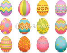 12 huevos de Pascua. Ilustración de stock #2010940